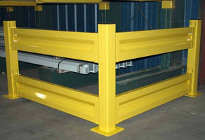 Industrial Safety Rail protects personnel around facility.