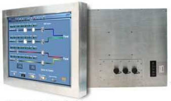 Stainless Steel Fanless Panel PCs feature food-safe seals.