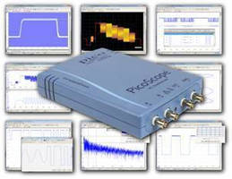 PC Oscilloscope offers real-time sampling rate of 250 MS/s.