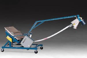Portable Bulk Conveyor fits through tight spaces.