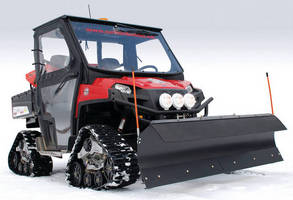 Utility Vehicles are available with soft-side cab.