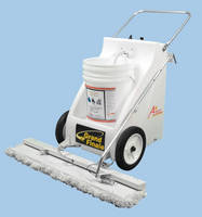Floor Chemical Application Machine operates at high speed.