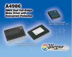 Dual Full-Bridge Motor Driver ICs have overcurrent protection.