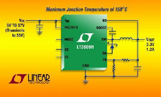 Step-Down DC/DC Converter has max junction temperature of 150°C.