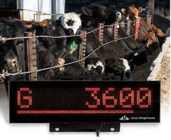 Remote Agricultural Scale Displays promote readability.