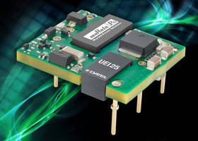 Low-Profile, Open-Frame DC-DC Converters deliver 25 W output.