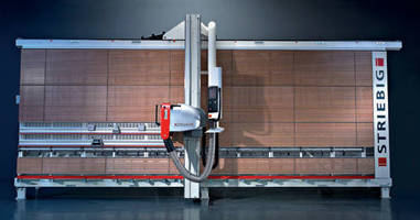 Swiss-Made Vertical Panel Saw has touchscreen interface.