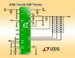 Step-Down DC/DC Converter drives up to 30 LEDs.