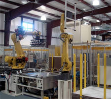 Automatic Top Cap Forming System integrates with pallet cell.