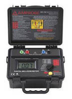 Battery-Powered Milliohm Meter offers portable operation.