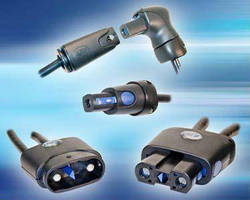 High-Power Connectors incorporate cable strain relief.