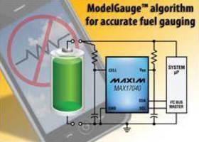 Battery Fuel-Gauge ICs estimate charge by measuring voltage.