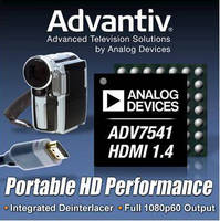Low-Power HDMI Transmitter IC brings HD video to home theaters.