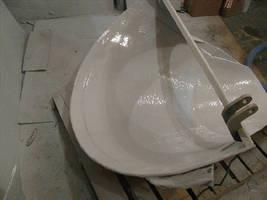Polyurea Spray Liner System eliminates corrosion.