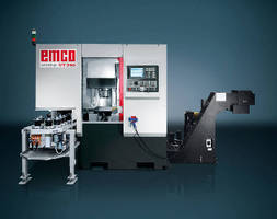 Vertical Turning Machine handles parts to 200 mm diameter.