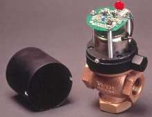 Poppet Valves are solenoid operated.