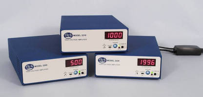 High-Voltage 40 W Power Amplifiers offer output up to ±2 kV.