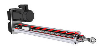 Push-Rod Style Ballscrew Linear Actuator is IP65-rated.