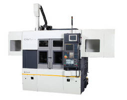 Twin Spindle Lathe handles heavy parts up to 200 dia x 100 mm.