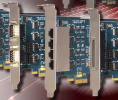 PCIe Serial Communication Cards offer DB9 and RJ45 connectivity.