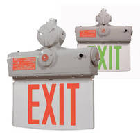 LED Luminaires suit indoor emergency sign lighting.