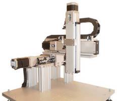 Cartesian Robotic Platform features multi-axis XYZ design.