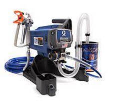 Professional-Quality Paint Sprayer serves DIY applications.