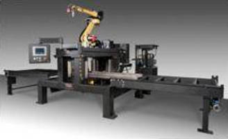Robotic Beam Cutting and Scribing System automatically generates tool paths.