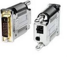 DVI Extender works via single-strand fiber optic cable.