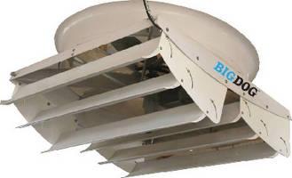 Belt Drive Ventilator moves air at 50,000+ cfm.