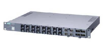Managed Industrial Ethernet Switch provides 24 gigabit ports.