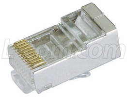 Modular RJ50 Plugs have grounded and shielded design.