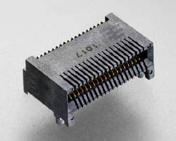 Surface Mount Connector supports QSFP and QSFP+ applications.