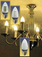 SMT LED Chandelier Bulbs produce 360° beam of light.