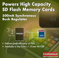 DC/DC Synchronous Buck Regulator supports SD Flash Memory.