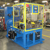 Hydraulic Machine combines end forming and roll forming.