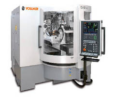 Disc Eroding, Grinding and Polishing Machine finishes PCD-tipped tools.