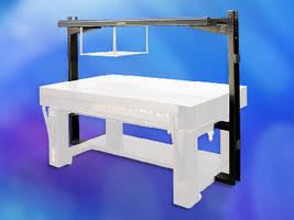 Optical Table System accommodates overhead shelf accessory.