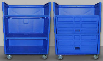 Laundry Cart offers non-removable, plastic shelves.