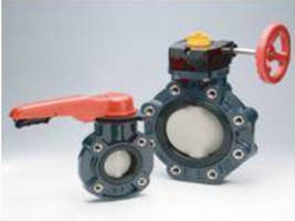 Thermoplastic Butterfly Valve features non-wetted shaft.