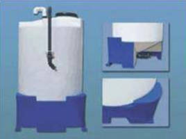Conical Bottom Tank and Stand feature all-polyethylene design.