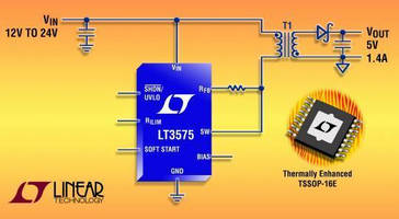 Isolated Flyback Switching Regulator simplifies converter design.