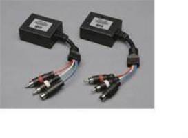 S-Video/Stereo Audio Extender works over Cat5, UTP cabling.