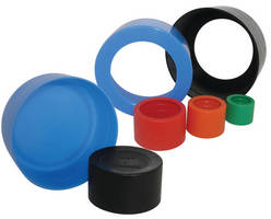 Protective Pipe Caps for shipping and storage.