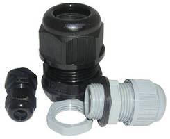 Cable Glands offer variable clamping ranges.
