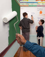 Dry-Erase Paint gives new life to old chalkboards and whiteboards.