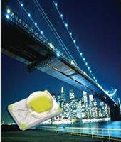 3 W SMT LED offers luminous flux up to 100 lumens at 350 mA.