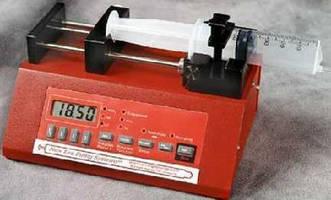 Microfluidics Syringe Pump accepts .5 µl to 140 ml syringes.