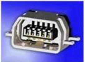 Hybrid Mini USB Jack features 10-pole SMT design.