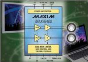 Class D Amplifiers integrate anticlipping and voltage limiting.
